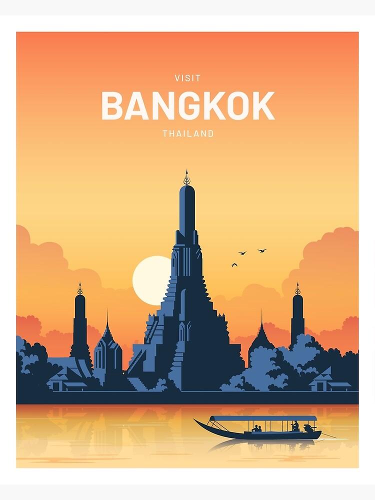 Bangkok Thailand Vector Vintage  by corvintp