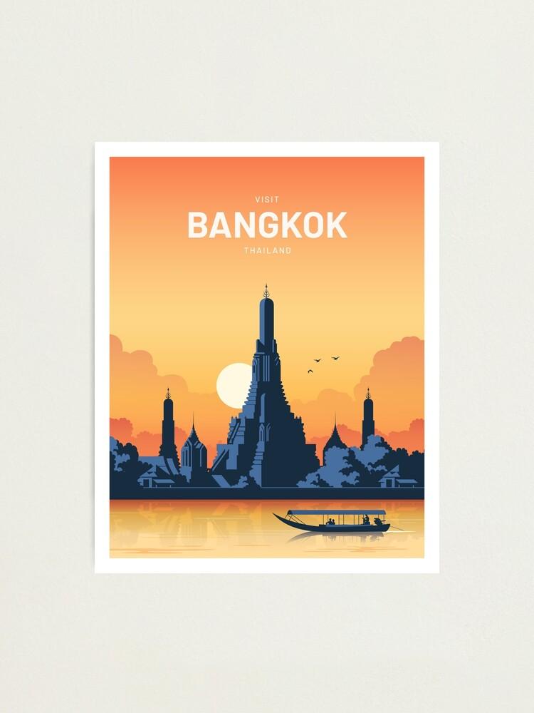 Alternate view of Bangkok Thailand Vector Vintage  Photographic Print