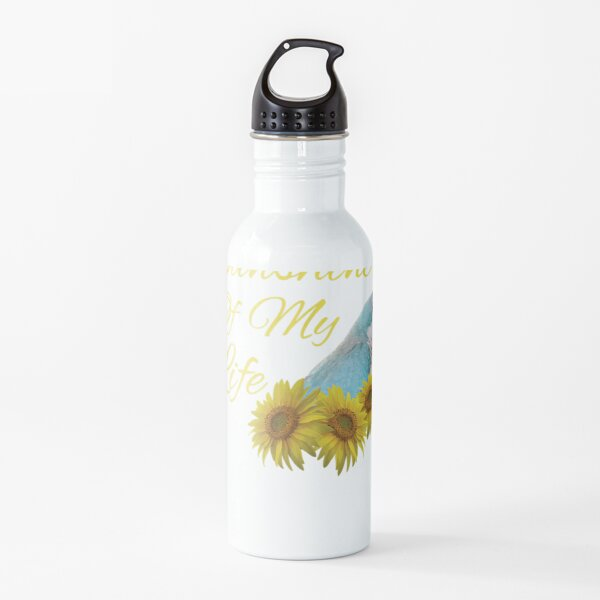 Quaker Parrot Blue Monk Parakeet Sunshine Sunflower Water Bottle