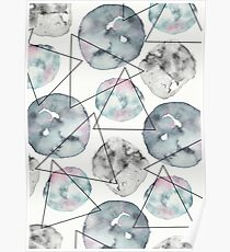 Asteroids Pattern Poster