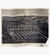 Civil War Maps 0218 Camp of the 196th Regt OVI Col R P Kennedy comdg Stevensons Station near Winchester Va Poster