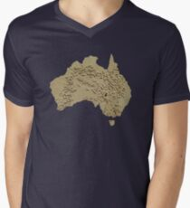 I, Australian Men's V-Neck T-Shirt