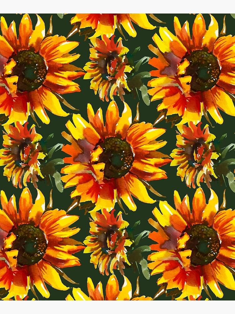 Watercolor Sunflowers  by junkydotcom