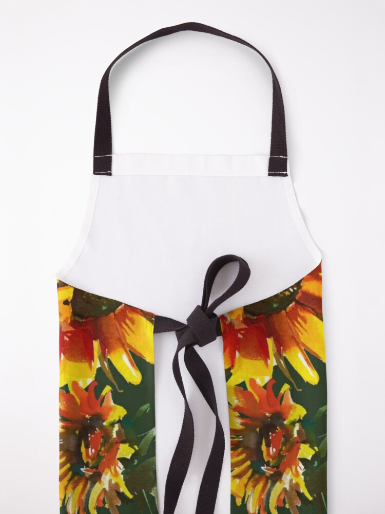 Alternate view of Watercolor Sunflowers  Apron
