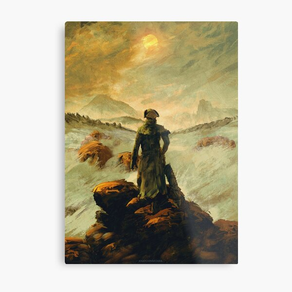 Hunter above the Sea of Fog Metal Print