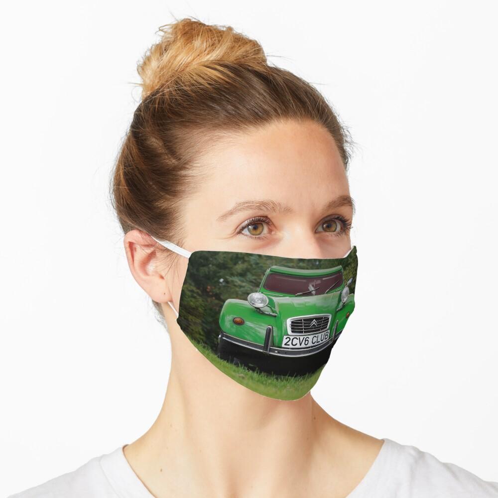 2CV6 Club Ente Deux Chevaux Sausssente grün Maske