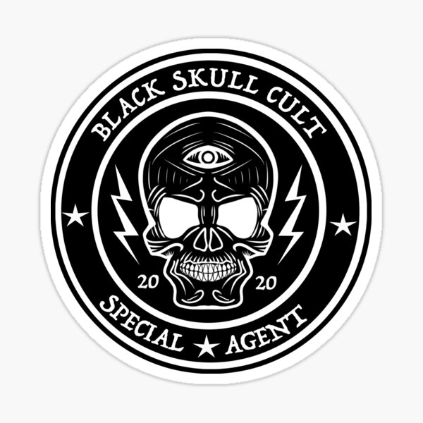 Black Skull Cult Sticker