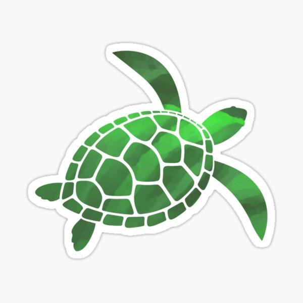 Meeresschildkröte Art Sticker