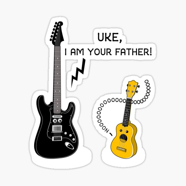 Uke, I am your Father! Sticker