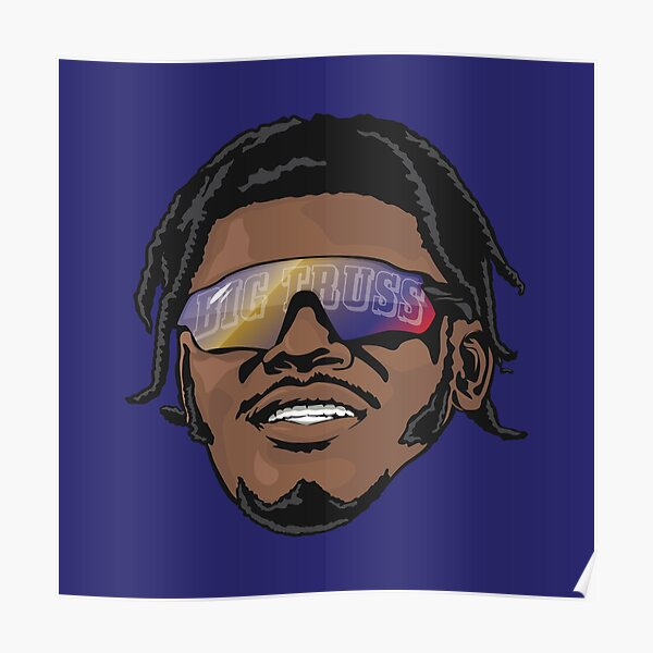 Lamar Jackson Baltimore Ravens Big Truss Poster