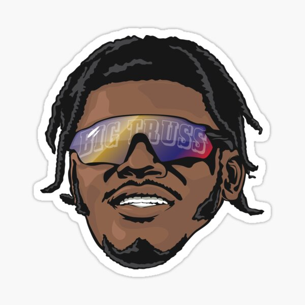 Lamar Jackson Baltimore Ravens Big Truss Sticker