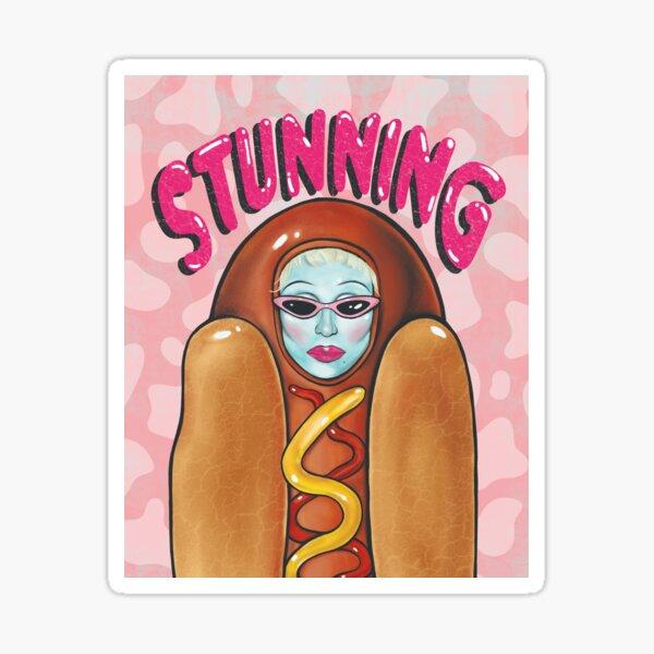 juno im hot dog anzug Sticker