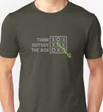 Think Outside the Box (White) Unisex T-Shirt