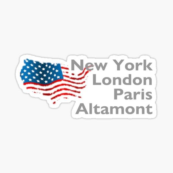 New York London Paris Altamont Sticker