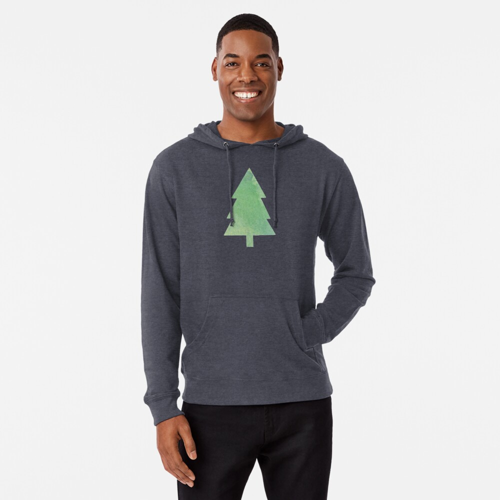 Simple Pine Tree Forest Pattern Lightweight Hoodie