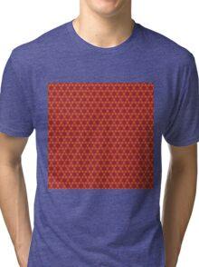 Geometric brown abstract pattern Tri-blend T-Shirt