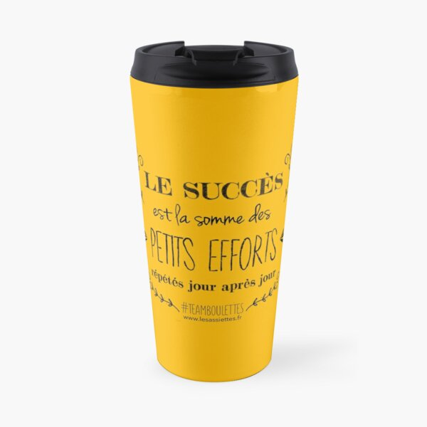 Success is the sum of small efforts repeated every day! Travel Mug