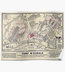 Civil War Maps 0217 Camp McDonald a school of Instruction for the 4th Brigade Georgia Volunteers Poster