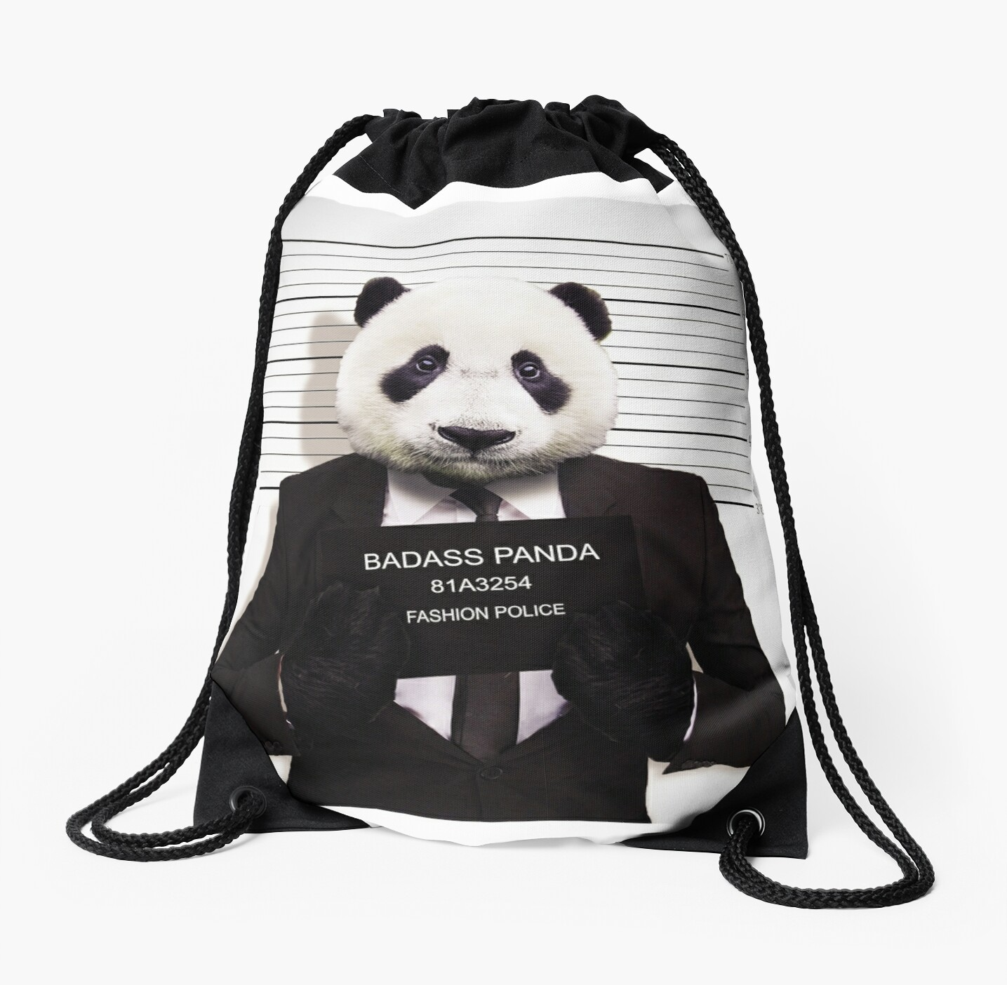 Quot Funny Badass Panda Quot Drawstring Bags By Rott515 Redbubble