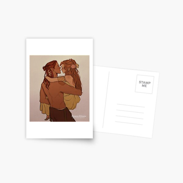 Lucien and Elain Postcard