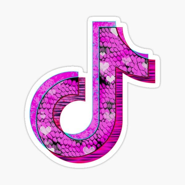 Diseño de arte del logotipo de Pink Tiktok Pegatina