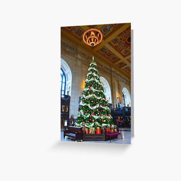 Union Station Christmas Tree, Kansas City, Missouri Greeting Card