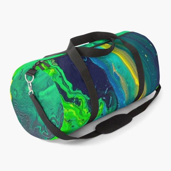 Green acrylic pouring Duffle Bag