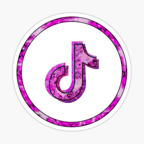 Trending Pink Tiktok logo art design pegatina Pegatina