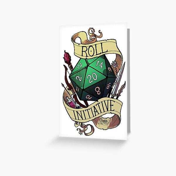 Roll Initiative Greeting Card