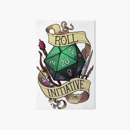 Roll Initiative Art Board Print