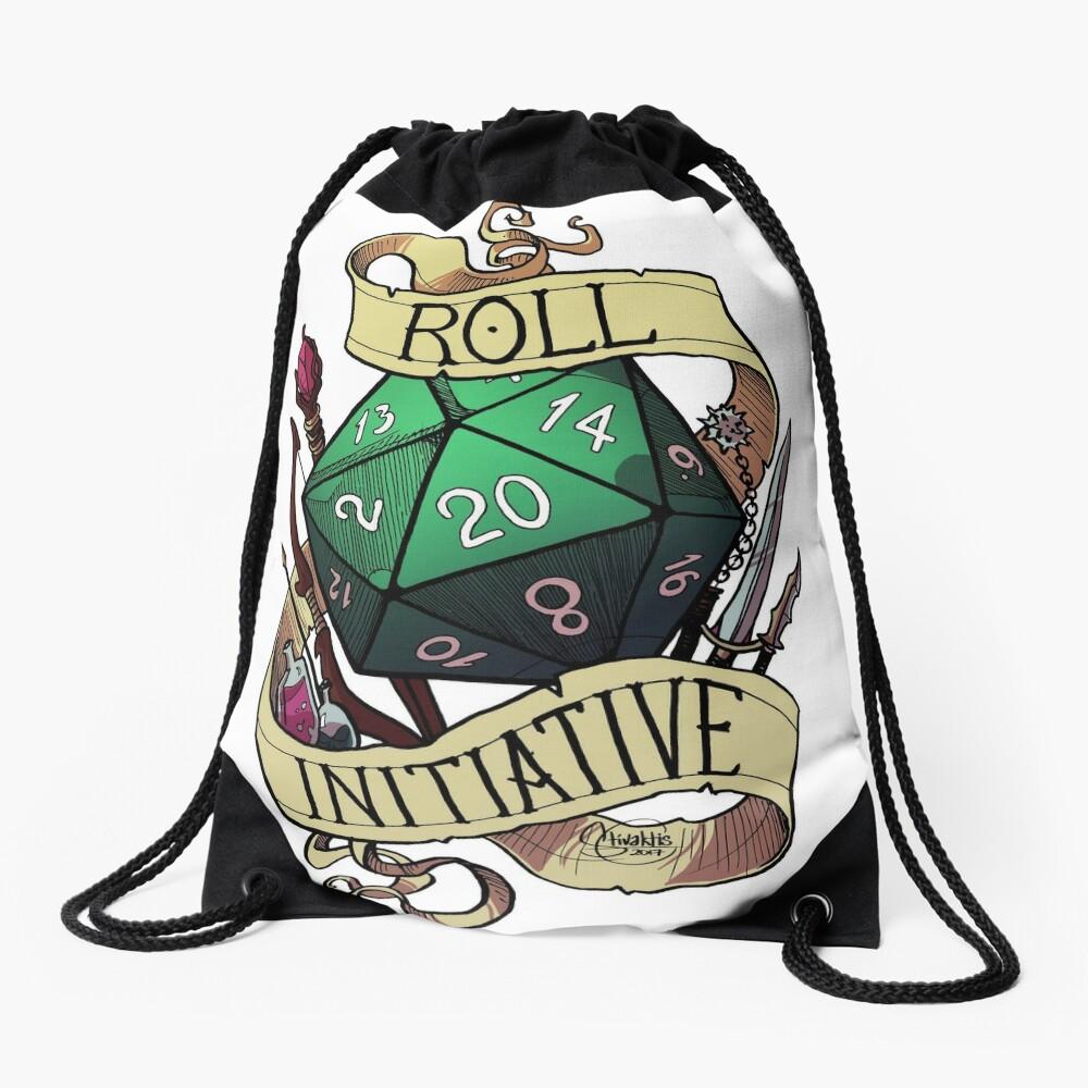Roll Initiative Drawstring Bag