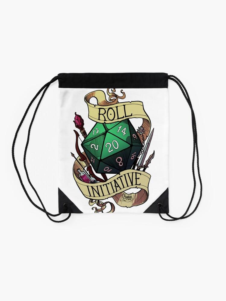 Alternate view of Roll Initiative Drawstring Bag