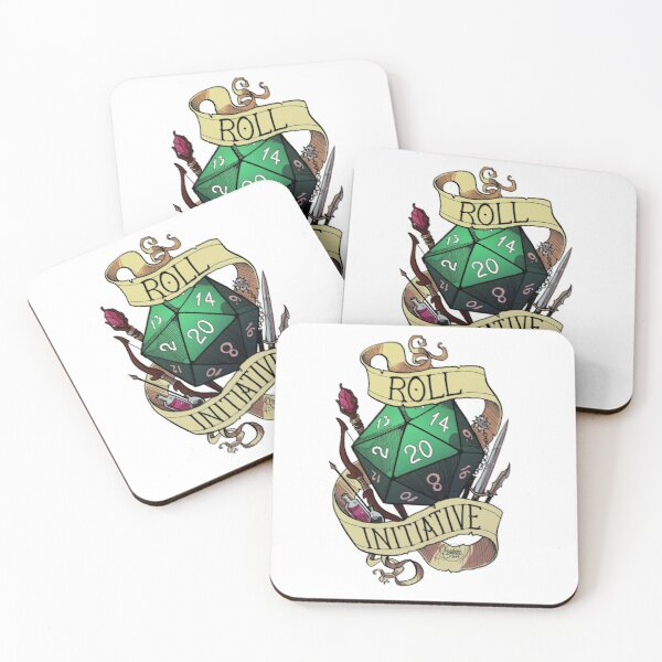 Roll Initiative Coasters (Set of 4)