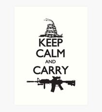 Keep Calm and Carry Art Print