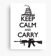 Keep Calm and Carry Canvas Print