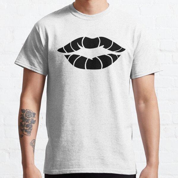Groovy Lips Black Classic T-Shirt