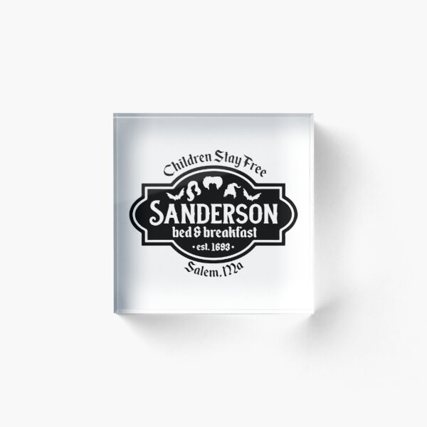 Sanderson Bed And Breakfast vintage est 1693 Acrylic Block