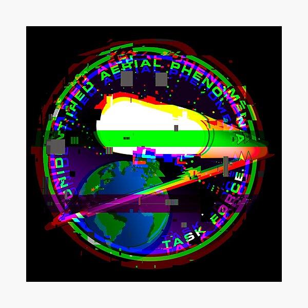 Unidentified Aerial Phenomenon Task Force (UAPTF) Insignia GLITCH Photographic Print