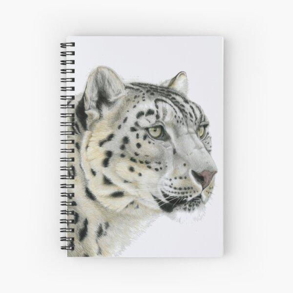 Snow Leopard Portrait (right) Spiral Notebook