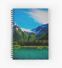 Serene Mountains Scenery Spiral Notebook