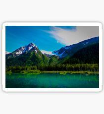 Serene Mountains Scenery Sticker