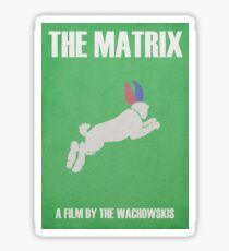 The Matrix Minimalist Poster Sticker