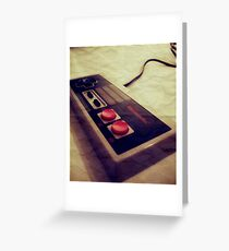 NES Controller Greeting Card