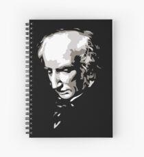 William Wordsworth black and white silhouette art Spiral Notebook