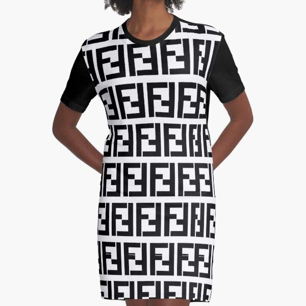 fendi Graphic T-Shirt Dress
