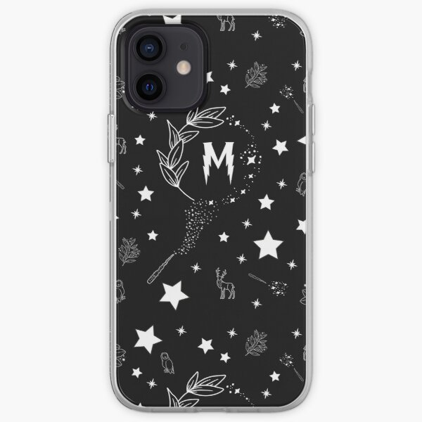 Letter M with Magic and Sparks iPhone Soft Case