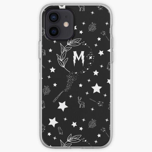 Letra M con Magia y Chispas Funda blanda para iPhone