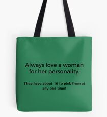 Love a Woman's Personality Tote Bag