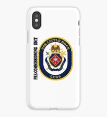 LCS-9 USS Little Rock Pre-Commissioning Unit iPhone Case/Skin