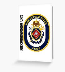 LCS-9 USS Little Rock Pre-Commissioning Unit Greeting Card